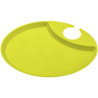 KOZIOL 2in1手勾飲料點心盤(綠)