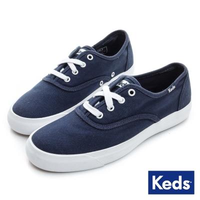 Keds 品牌經典系列之文青氣息休閒鞋-海軍藍