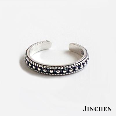 JINCHEN 純銀麻花開口戒指