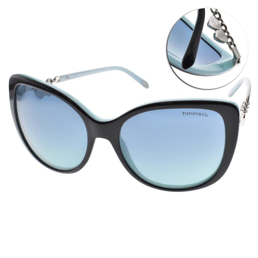 Tiffany&CO.太陽眼鏡 典藏心型吊釦款/黑#TF4129 80559S