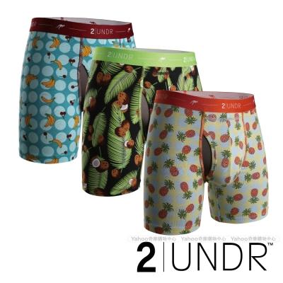 2UNDR Day Shift 水果主題吸排四角內褲(6吋)-三入組