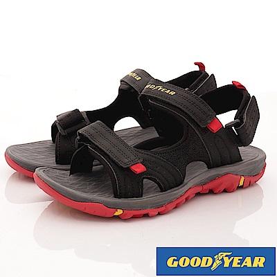 GOODYEAR-越野沙灘運動涼鞋-EI3610黑紅(男段)
