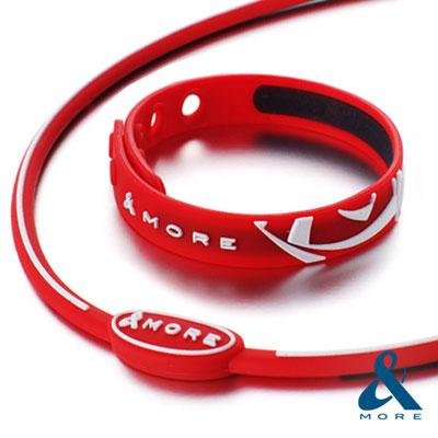 MORE愛迪莫-KADORI鈦鍺運動系列-項鍊-手環-套組