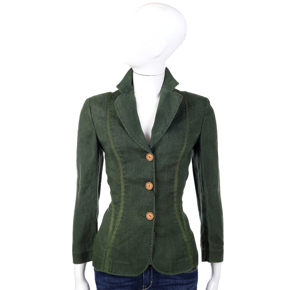 ALBERTA FERRETTI 綠色排釦西裝外套