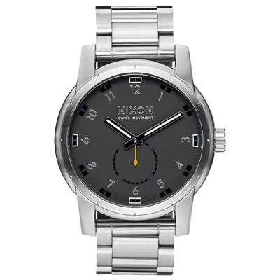 NIXON PATRIOT   獨領風騷復古時尚腕錶-不鏽鋼銀X黑/45mm