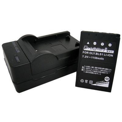 電池王 Olympus BLS-1 高容量鋰電池+充電器組