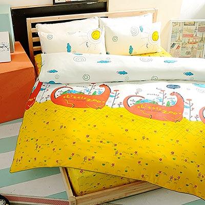 Grace Life 童趣樂園 精梳純棉加大涼被床包四件組