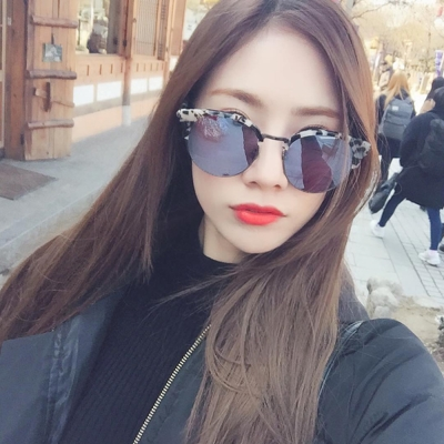 NINE ACCORD太陽眼鏡 韓系潮流/柔琥珀-白水銀#CARDINAL-OR C03