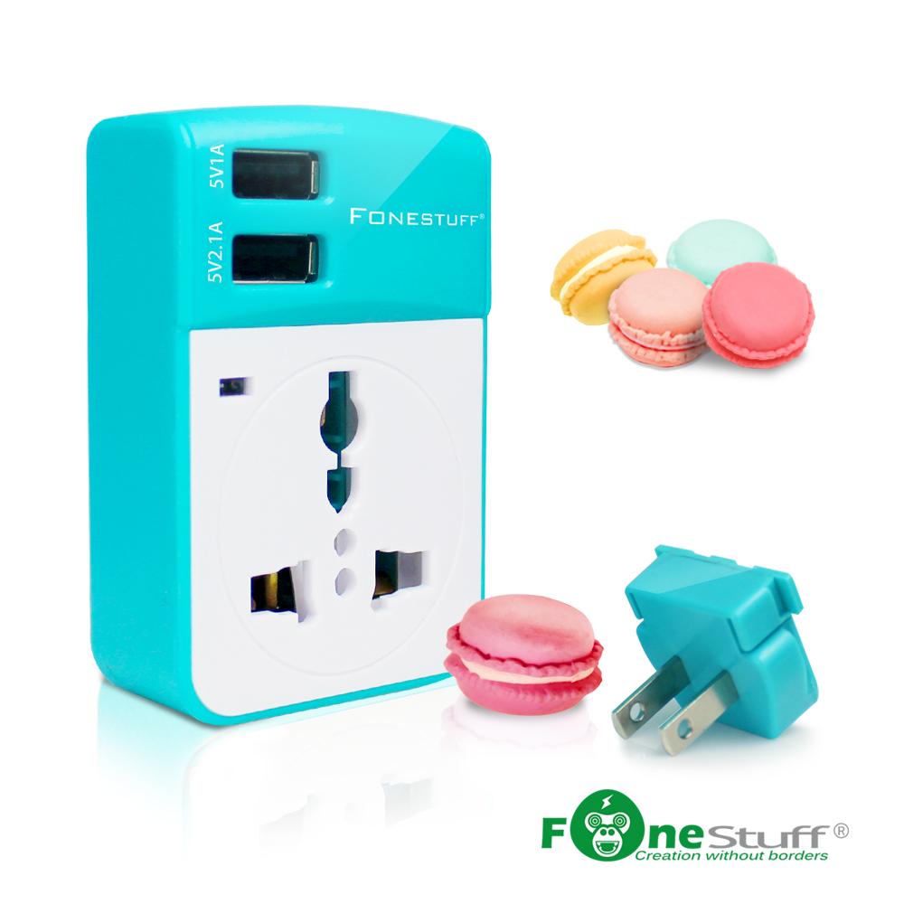 Fonestuff T002WG 5V/3.1A 雙USB萬用插座充電器(福利品)