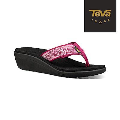 TEVA 美國-女 Voya Wedge 經典織帶高跟輕盈涼鞋 莓果紫紅