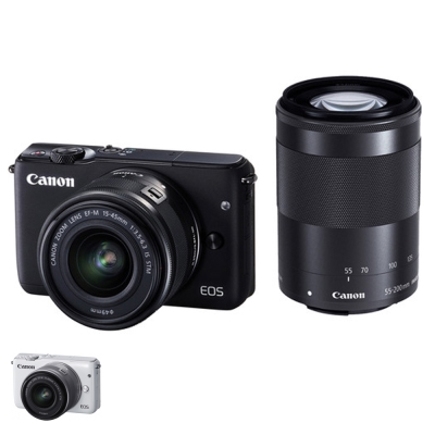 Canon M10+15-45mm+55-200mm STM 雙鏡組*(平輸中文)