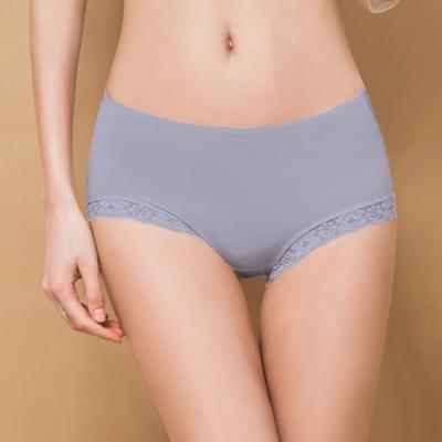 內褲 微性感蕾絲抗敏M-XL內褲 含蓄藍 可蘭霓Clany
