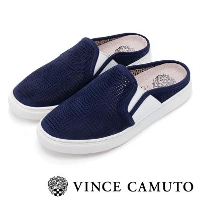 VINCE CAMUTO 輕盈時尚 運動撞色雕刻休閒鞋-藍色