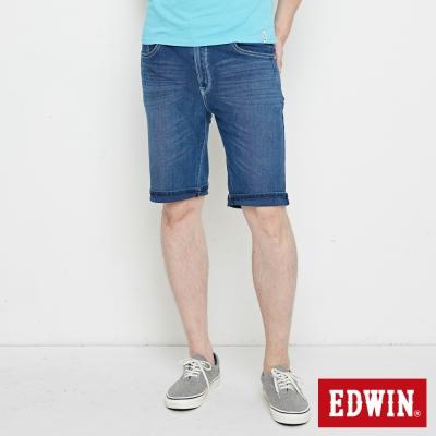 EDWIN 迦績極涼寬短褲-男-石洗綠