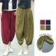 日系寬鬆透氣棉麻燈籠褲-共4色(M-XL適穿