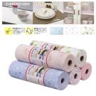 日本 多用途PET印花防潮墊2入 桌墊 餐墊 抽屜墊 可裁剪300cm