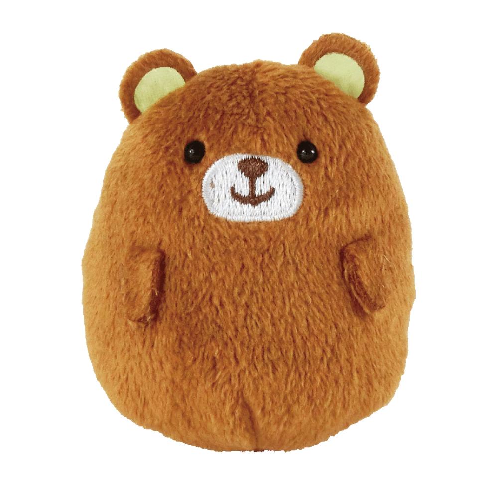 UNIQUE 動物樂園掌心沙包小公仔-小棕熊