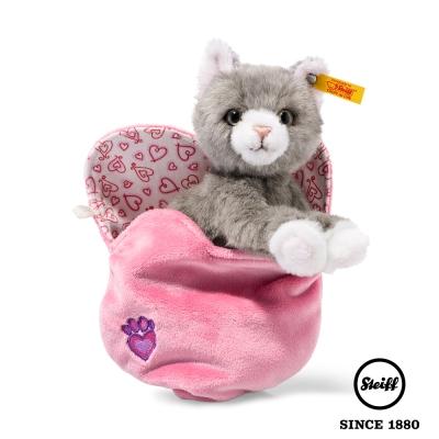 STEIFF德國金耳釦泰迪熊 袋中小貓 Cindy Cat(動物王國)