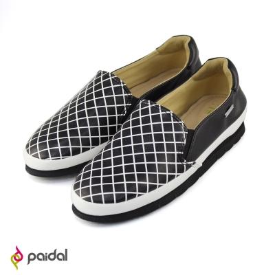 Paidal 摩登黑白時尚款休閒鞋樂福鞋