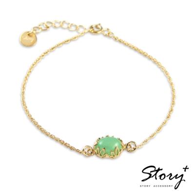 STORY故事銀飾-璽愛-天然寶石系列-綻放 純銀手鍊