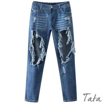 時尚大破洞牛仔褲-TATA