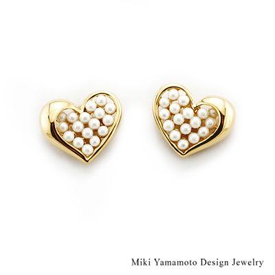 【山本美樹】Bubble Love  貝寶珠針式耳環