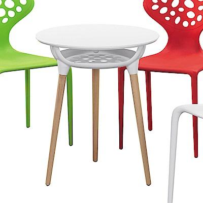 H&D 艾西斯白色造型圓桌 (寬60X深60X高72cm)