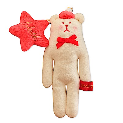 CRAFTHOLIC 宇宙人 聖誕快樂熊吊飾