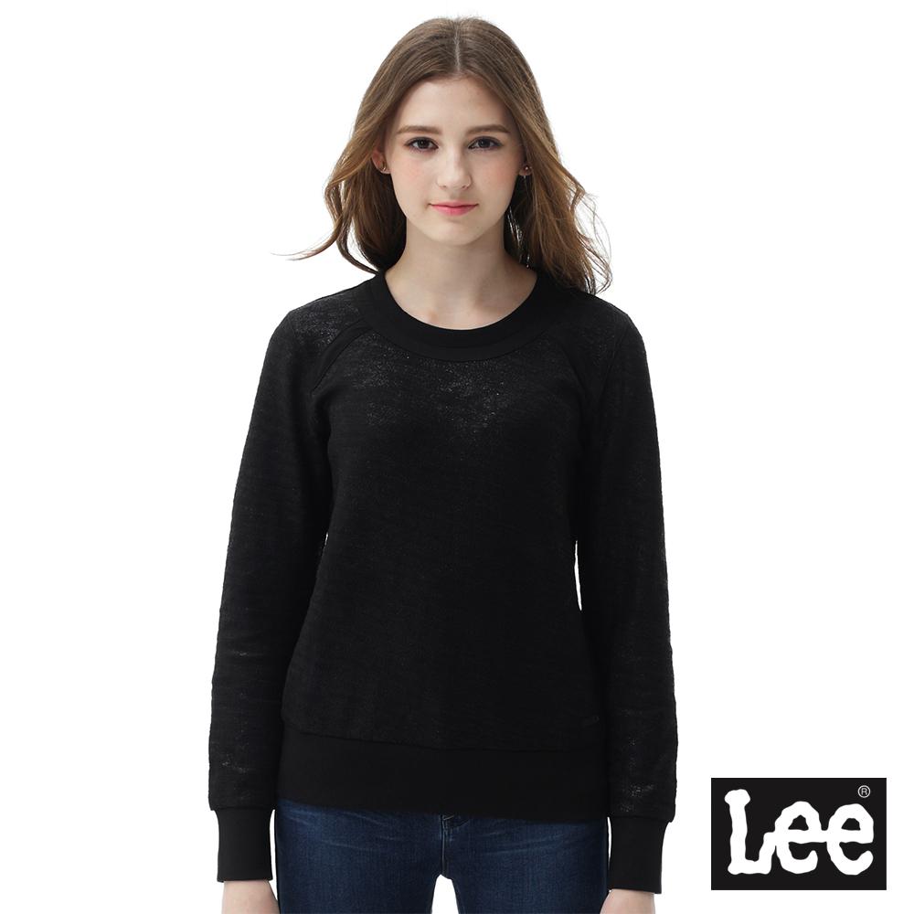 Lee厚棉素面T恤/RG-女款-黑色