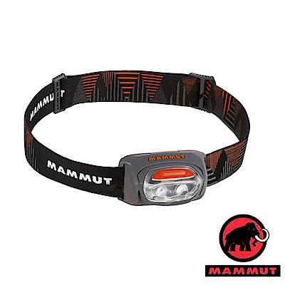 【瑞士 MAMMUT 長毛象】T-Base Headlamp 30流明 輕量化頭燈_灰橘
