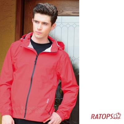 【瑞多仕】男款 2.5 layer 防水透濕夾克_RAW103 艷紅色 V1