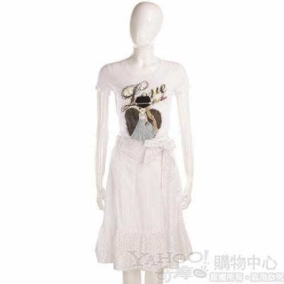 MAX MARA 白色蝴蝶結飾裙