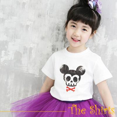 【The Shirts】骷髏米奇短袖T恤 (共二色)