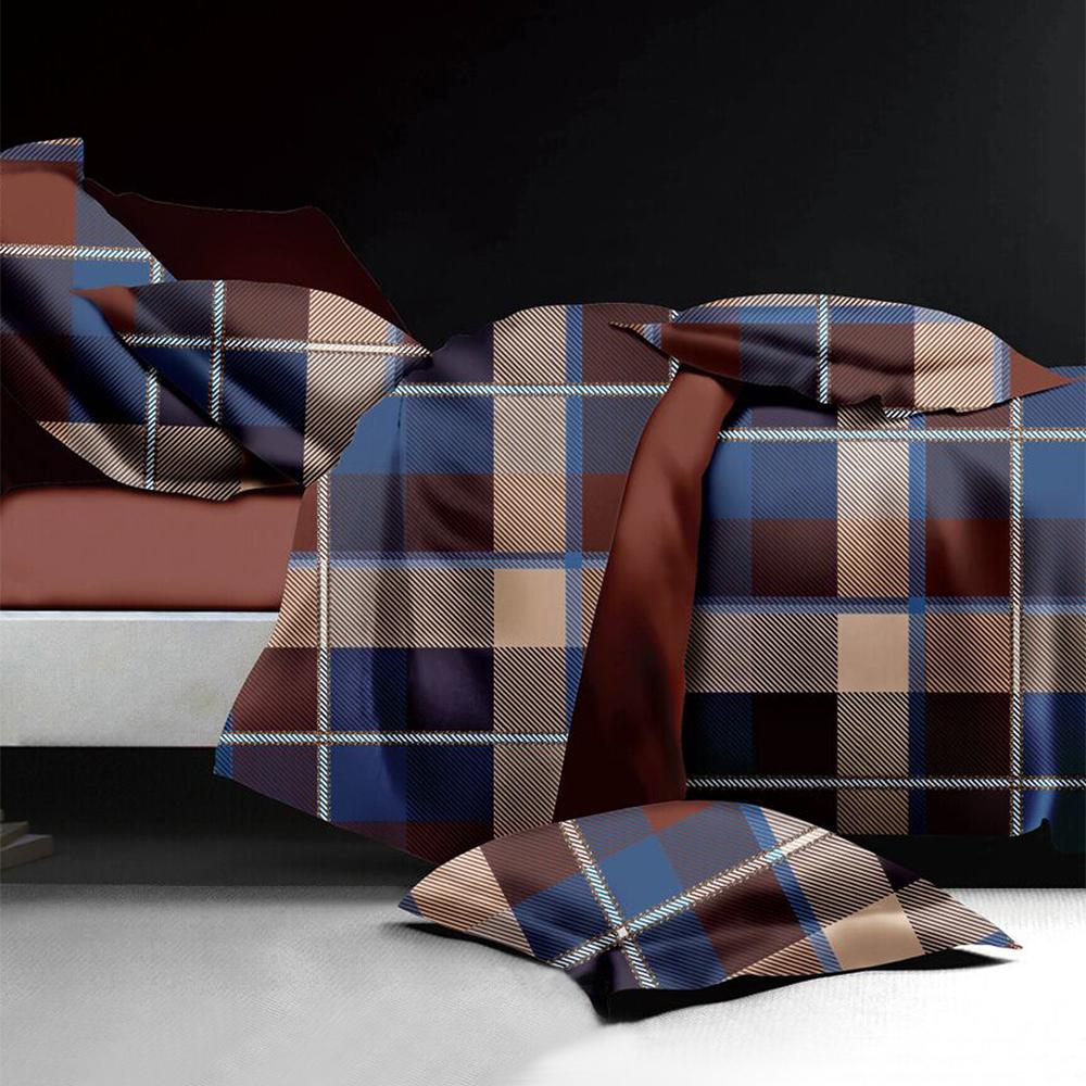 原色布屋 都會風格 舒柔棉加大四件式被套床包組
