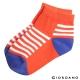 GIORDANO童裝條紋撞色短襪- 39 藍