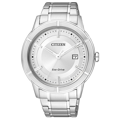CITIZEN Eco-Drive世紀都會時尚腕錶(AW1080-51A)-白/40mm