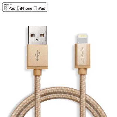 MAGIC Apple 8Pin 原廠認證 金屬編織傳輸充電線(1.2M)