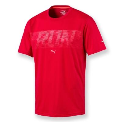 PUMA-男性慢跑系列RUN短袖T恤-緞帶紅-歐碼