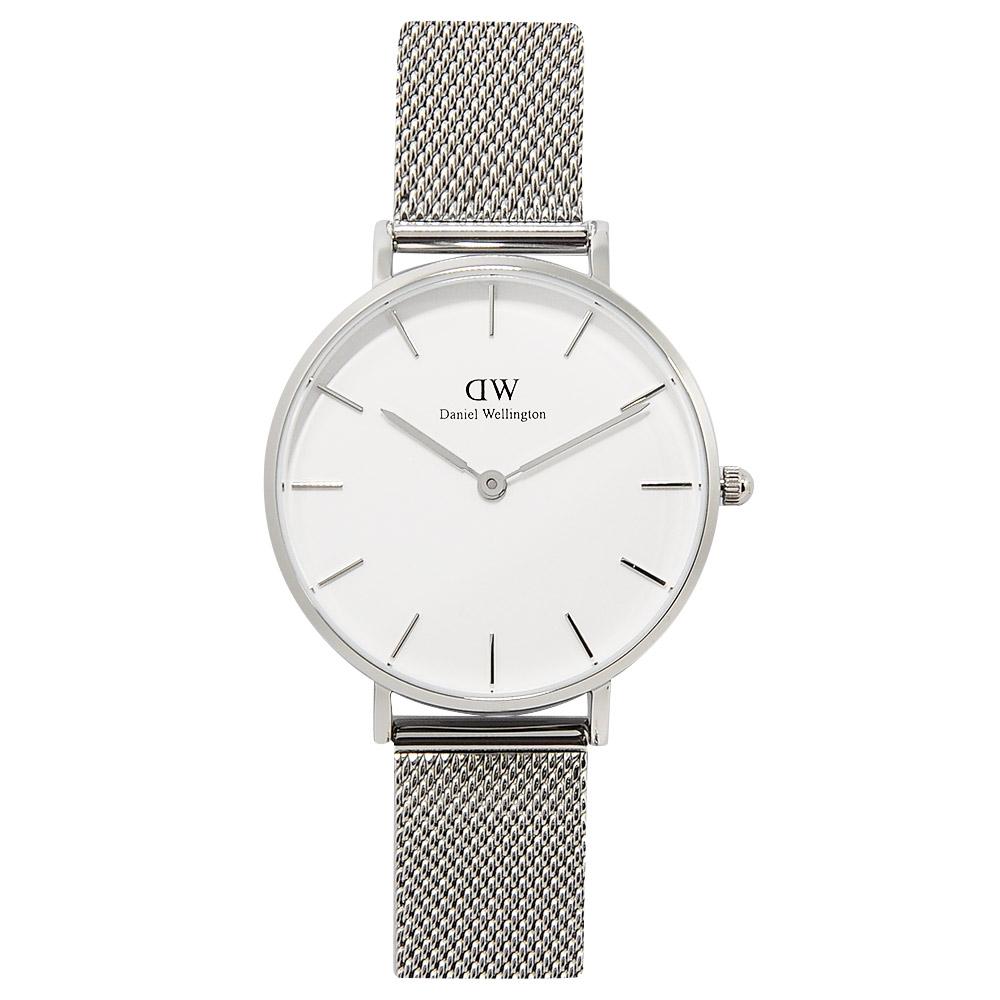 DW Daniel Wellington金屬米蘭帶白錶盤銀色手錶-32mm
