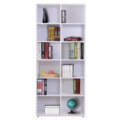 AT HOME-蒂芬妮2.7尺白色開放書櫃