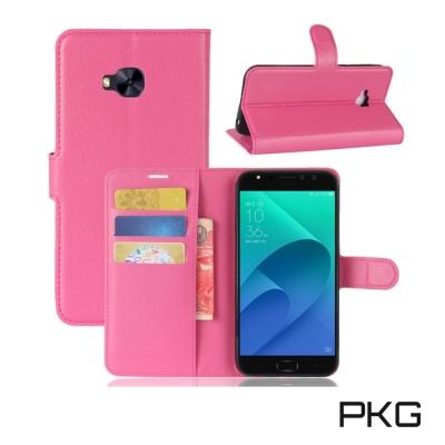 PKG ASUS ZF 4  Selfie Pro ZD 552 KL 側翻式皮套經典皮革-玫粉