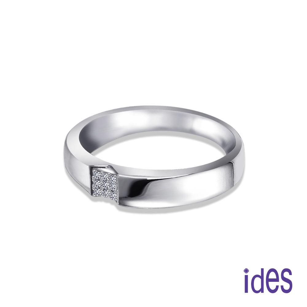 ides 愛蒂思 設計款造型E/VVS1鑽石戒指結婚戒男戒/時尚