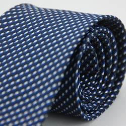 Alpaca 藍白黑綴斜紋領帶