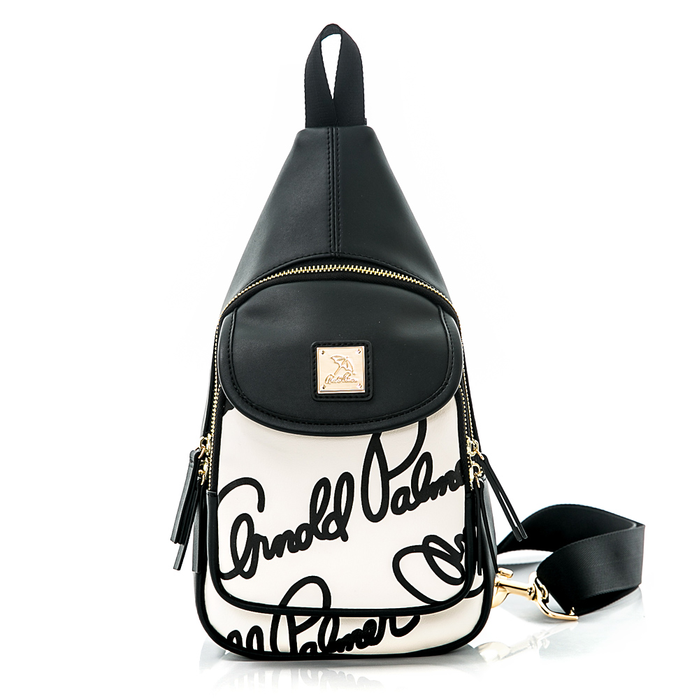 Arnold Palmer- 單肩背包 Graffiti 黑白塗鴉系列-黑白