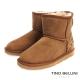 Tino-Bellini-雪地精靈圖騰真皮短筒雪靴