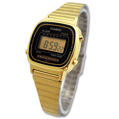 CASIO 金棕梠城市數位電子錶(LA 670 WGA- 1 )- 24 . 5 mm