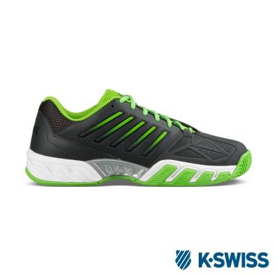 K-Swiss Bigshot light 3輕量專業網球鞋-男-鐵灰/綠