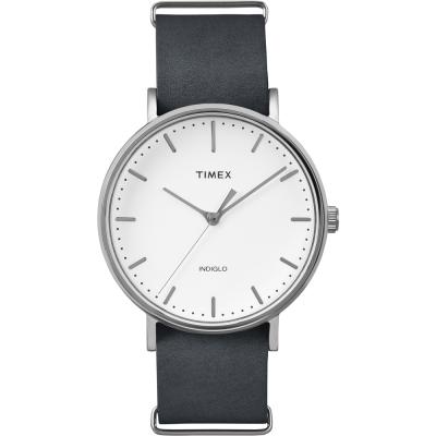 TIMEX 天美時 週末Fairfield系列時尚手錶-白x深灰/41mm
