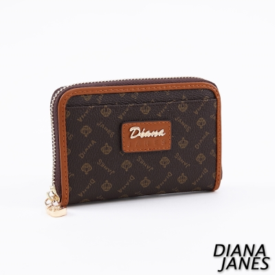 Diana-Janes-經典LOGO-牛皮時尚零錢夾
