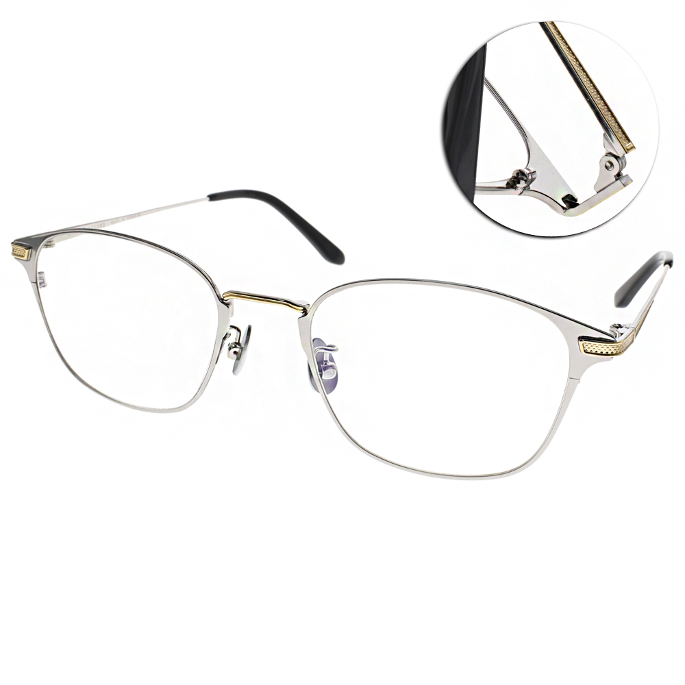 NINE ACCORD眼鏡 簡約休閒款/銀#PLACO ELSE2 C03